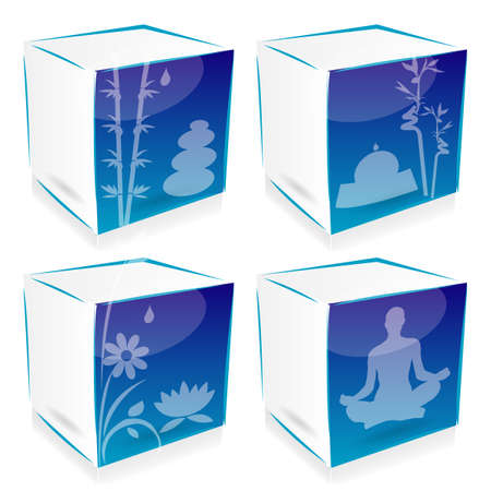yoga and zen cubes Vector