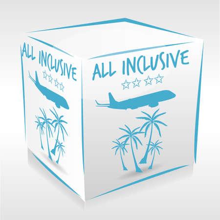 inclusive: all inclusive cube Illustration
