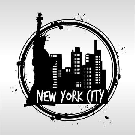 bronx: New York City stamp Illustration