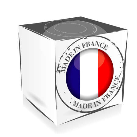 made in France cube Vector