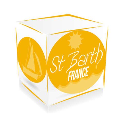 saint Barth cube Vector