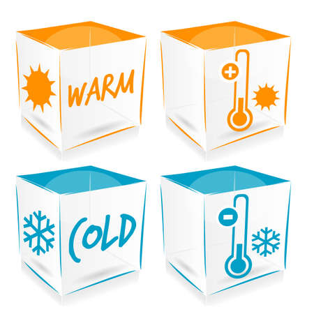 coldness: cold and warm icons