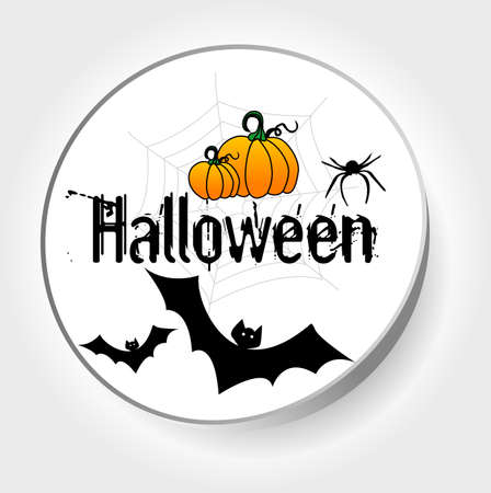 sticker halloween Vector