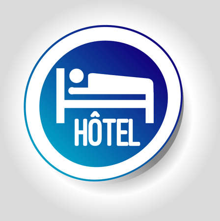 sticker hotel Vector