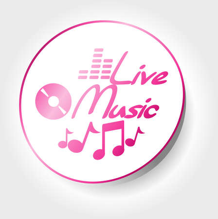sticker live music Vector