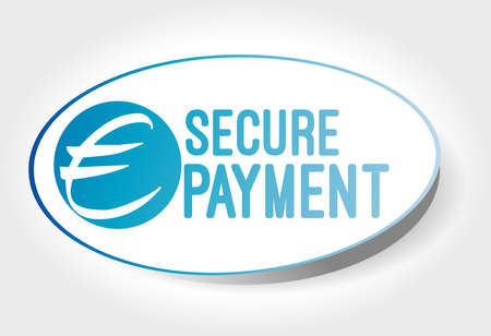 secure payment: sticker secure payment Illustration