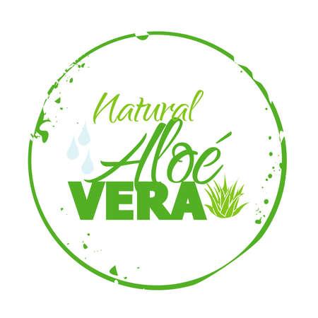 aloe vera plant: stamp Natural Aloé Vera