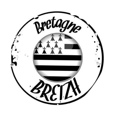 stamp Breizh Vector