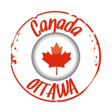 canada stamp: stamp Canada Illustration