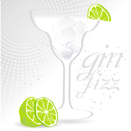 gin fizz background Vector