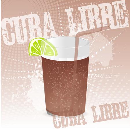 Cuba libre background Vector