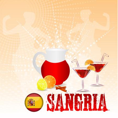 sangria: Sangria Background Illustration