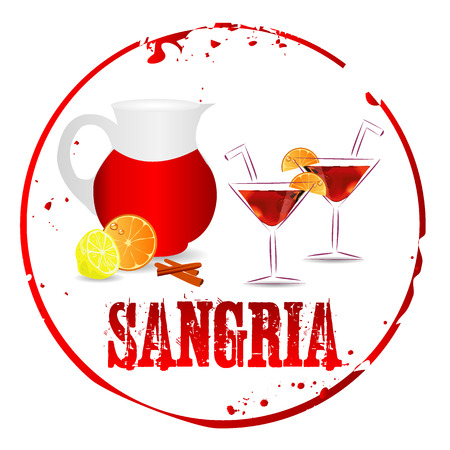 Sangria Stamp Vector