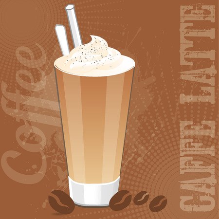 caffe: Caffe Latte Illustration