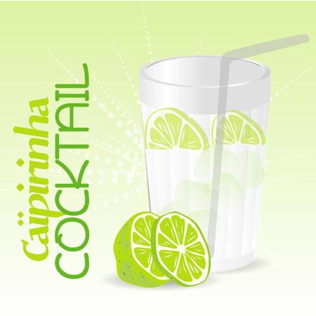 Caipirinha Cocktail Vector