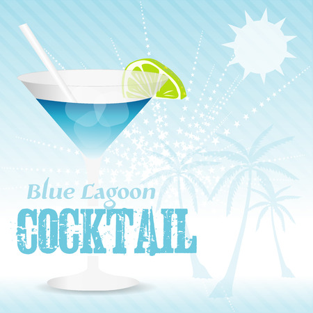 Blue Lagoon Background Vector