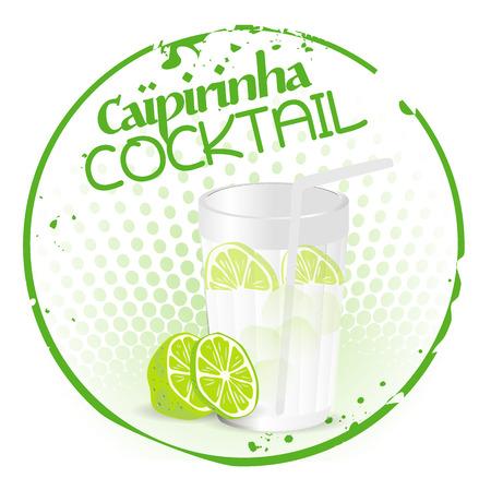 Capirinha Cocktail Vector