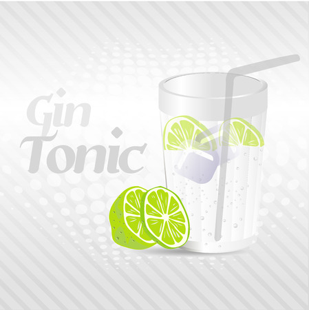 Gin Tonic Background Vector