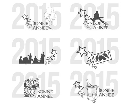 Happy New Year in France Vector