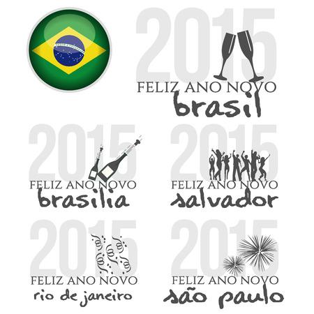 Happy New Year in Brasil Vector