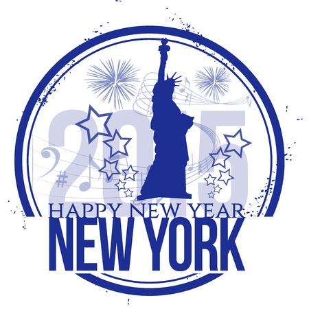Happy New Year in New York Vector