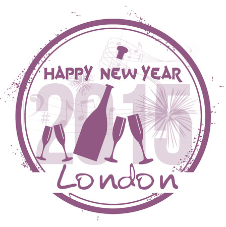 Happy New Year in London Vector
