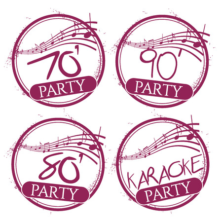 4 stamps party Vector