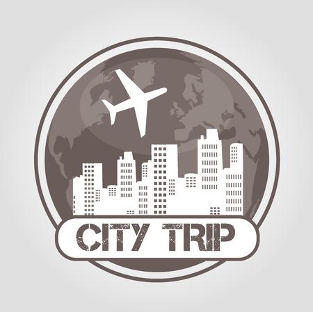 icon city trip Vector
