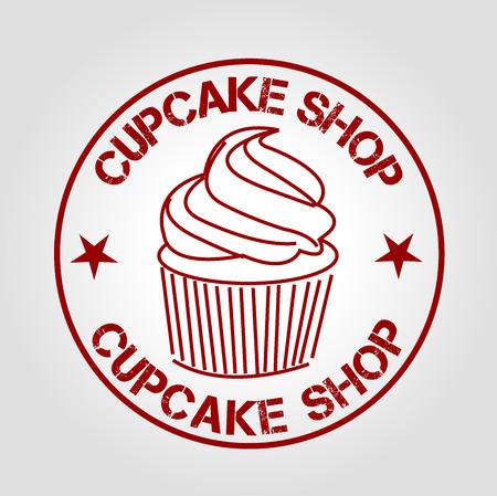 icon cupcake shop Vector
