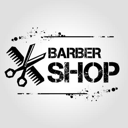icon barber shop Vector