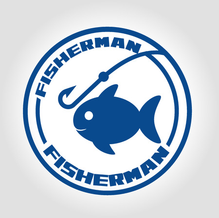 icon fisherman Vector