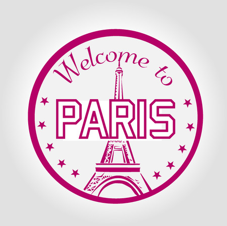 stamp Welcome to Paris Vector