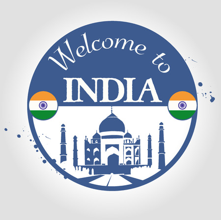 stamp Welcome to india Vector