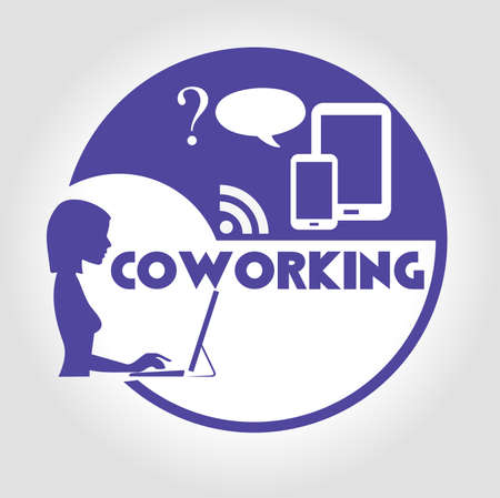 icon coworking Vector