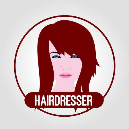 coiffeur: ic�ne coiffure Illustration