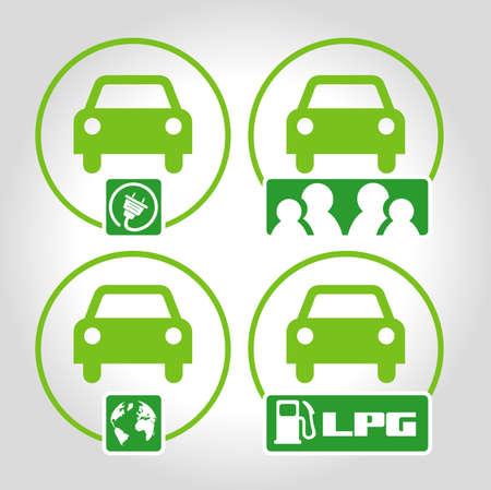 lpg: 4 icons ecology Illustration