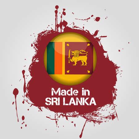 lanka: made in sri lanka Illustration