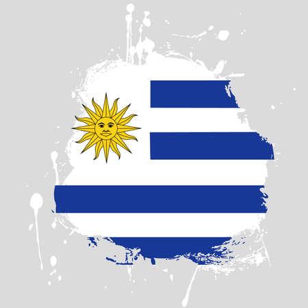 flag: uruguay flag Illustration
