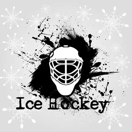 background ice hockey Vector