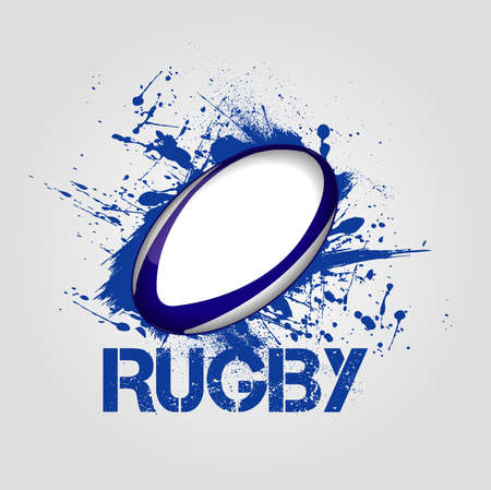 pelota: fondo de rugby Vectores