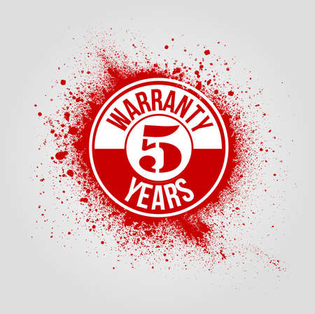 5 years: 5 years warranty background Illustration