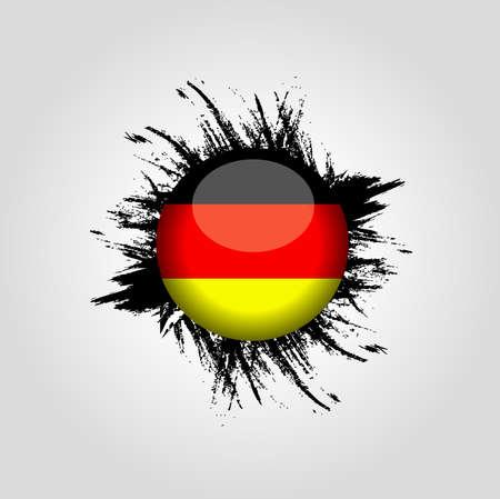 bandera alemania: Alemania fondo de la bandera Vectores