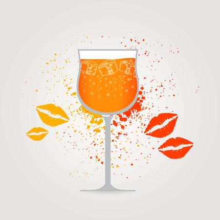 spritz: Spritz Cocktail background Illustration