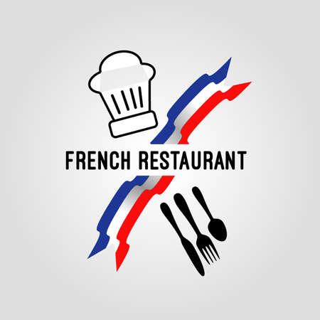 finest: French Restaurant icon Illustration
