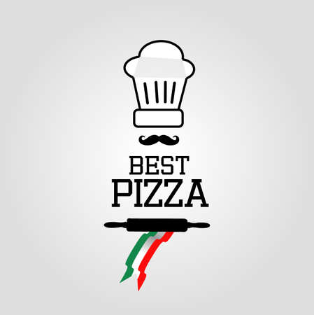 at best: The best pizza icon Illustration