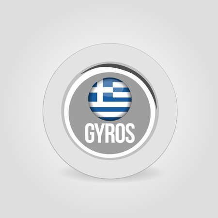 food: gyros food icon Illustration