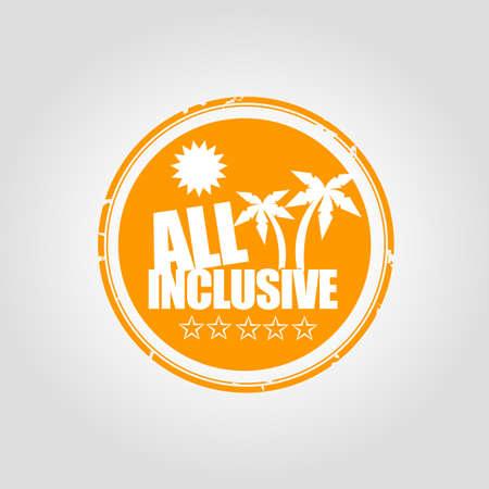 inclusive: All inclusive Stamp