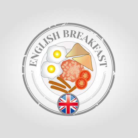 english breakfast: English breakfast stamp