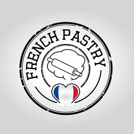 french pastry: Sello de pasteler�a franc�s