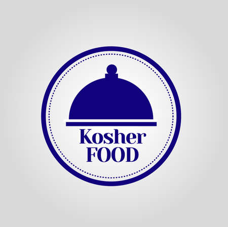 kosher: Kosher Food Stamp Illustration